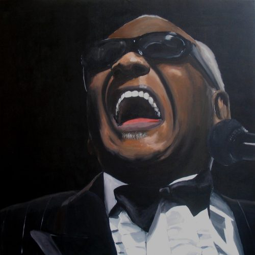 Ray Charles acrylic/ canvas, 90 x 90 cm, 2005 sold